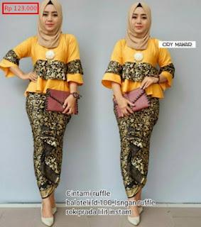 model baju batik setelan kombinasi