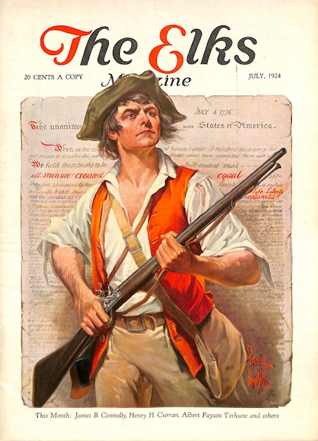 July 1923 cover for The Elks magazine by Paul Stahr