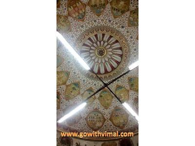 Bhandasar Jain temple, Bikaner, ceiling