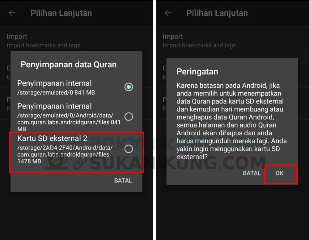Quran For Android, Al-Qur'an Digital Lengkap Untuk Android (Bagian #6 – Memindah Penyimpanan Data ke SDCard) - Android tips trick