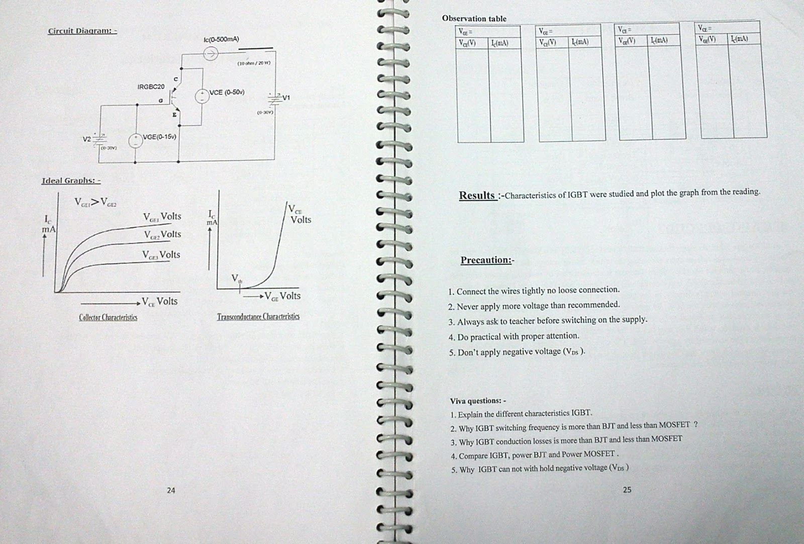 Power Electronics Lab Manual Sem-6