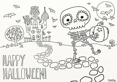 Happy Halloween Pictures To Color