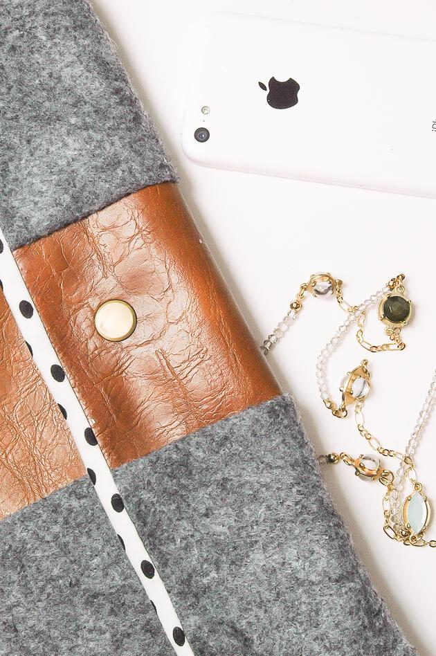 DIY Felt and Leather purse