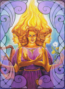 Illustration of Brigid | Wicca, Magic, Witchcraft, Paganism