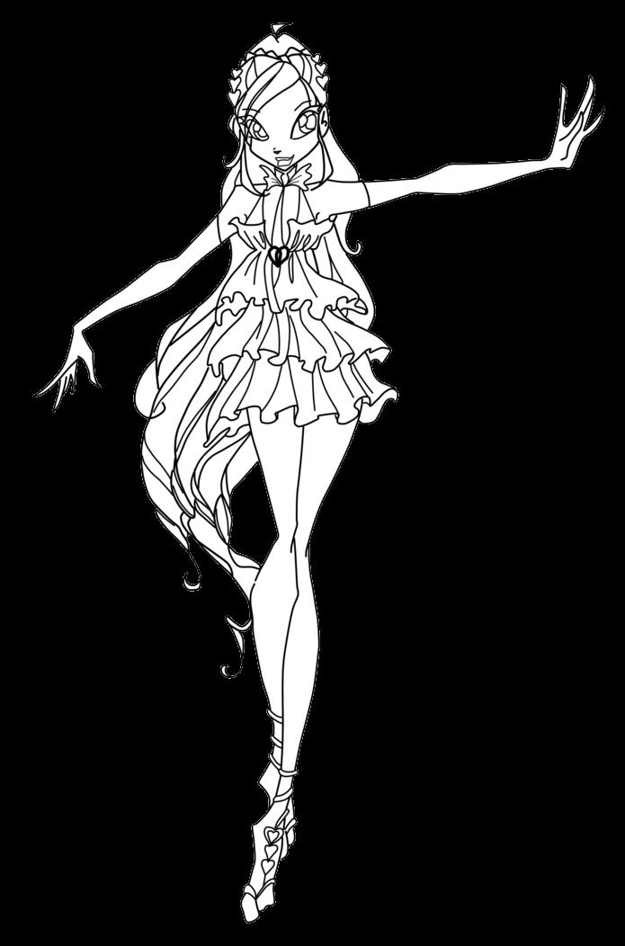 Winx Club Sirenix Colorear Colorea A Bloom Encantrix Sin Alas
