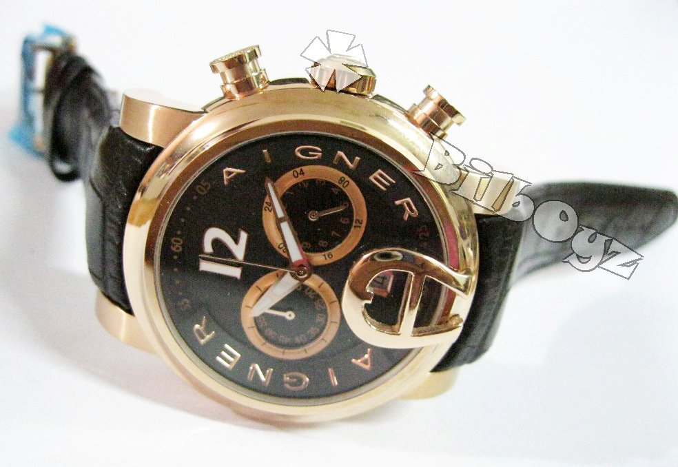 WATCHES ONLINE: AIGNER BARI LEATHER WATCHES