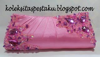 Dompet Tas Pesta Model Terbaru Pink Ayu Cantik Mewah