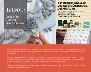 Banner talleres del XV desembalaje de Murcia