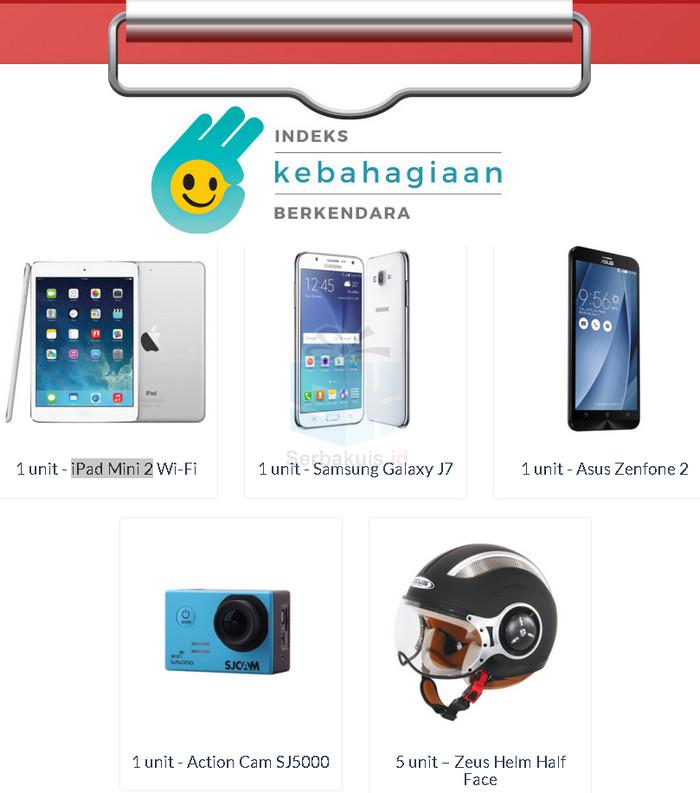 Survey Indeks Kebahagiaan Berkendara Berhadiah iPad Mini 2