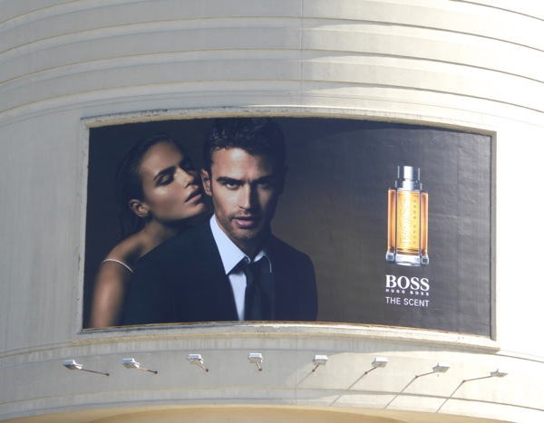 Theo James Hugo Boss Scent billboard