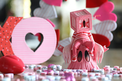 Coozie Pink Love Edition Vinyl Figure by Nathan Ota x 3DRetro