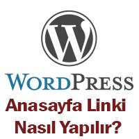wp anasayfa linki yapmak