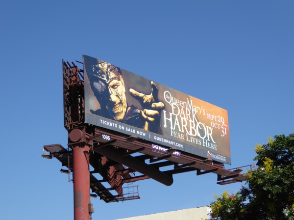 Queen Marys Dark Harbor billboard