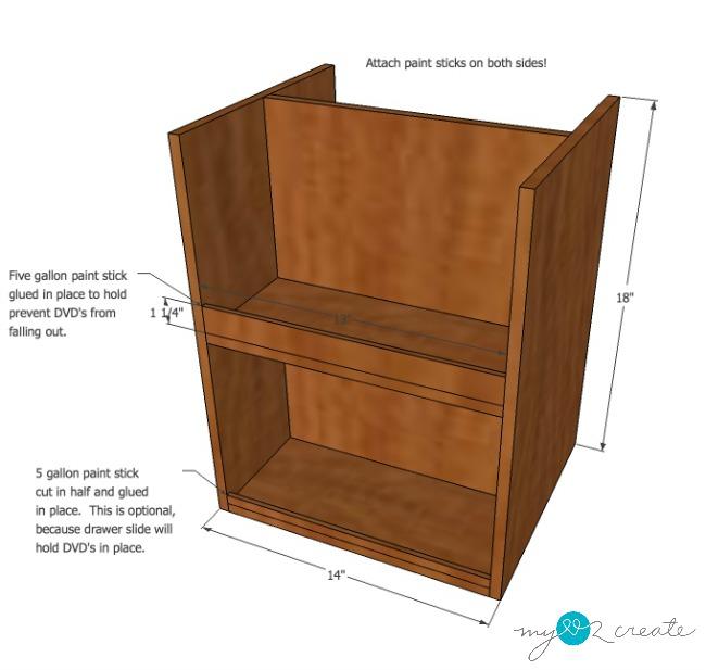 DVD storage Drawers step 6