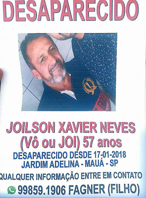 Desaparecido: Joilson Xavier Neves