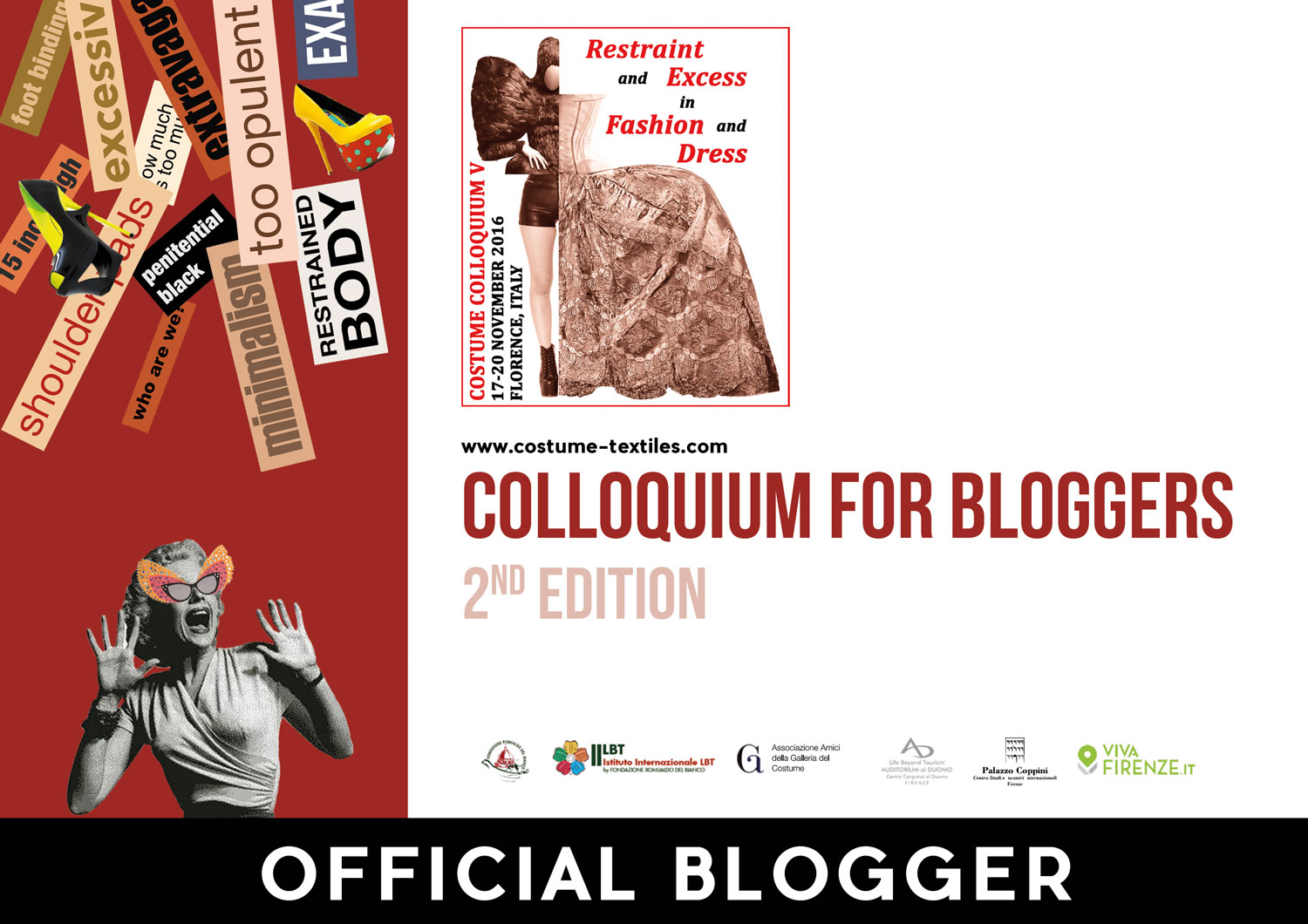 "Official blogger for ""Costume Colloquium"" 2016"