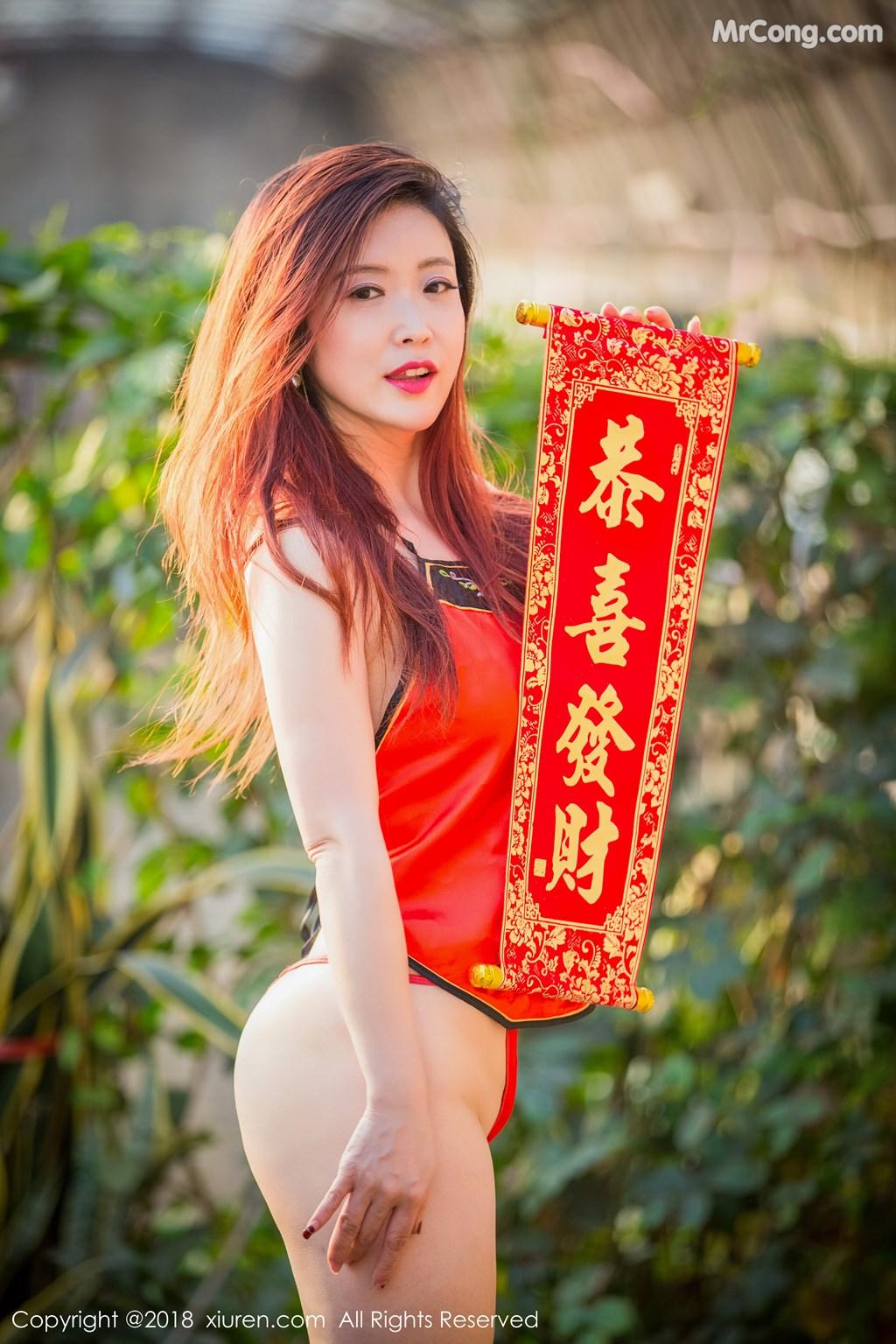Image XIUREN-No.887-Xi-Xi-Bai-Tu-MrCong.com-004 in post XIUREN No.887: Người mẫu Xi Xi Bai Tu (西希白兔) (44 ảnh)