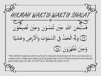 Cerita imajiner islam berjudul Hikmah Waktu-Waktu Shalat