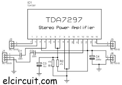 Stereo Power Amplifier using TDA7297