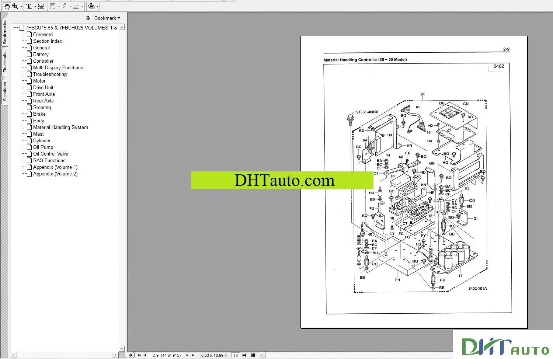 Toyota Forklift Trucks Full Set Manual Automotive Library. Toyota Forklift 8 Series Repair Manual 8fbchu Service Cu346 Vol1 Cu3471 Vol2. Toyota. Toyota Forklift 6hbe30 Wiring Diagram At Scoala.co