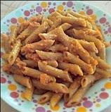 Μακαρόνια με σάλτσα καρότο