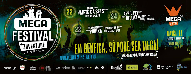 Programa Festival da Juventude 2018 em Benfica