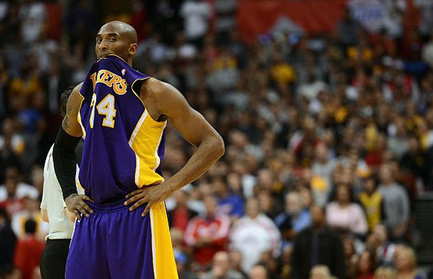 Kobe chewing his Jersey