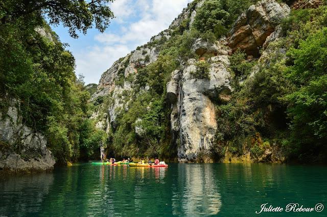 Kayak dans les Gorges du Verdon à Quinson