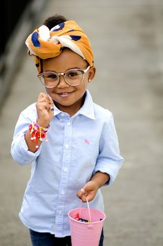 Cute kids know how to rock African head wraps