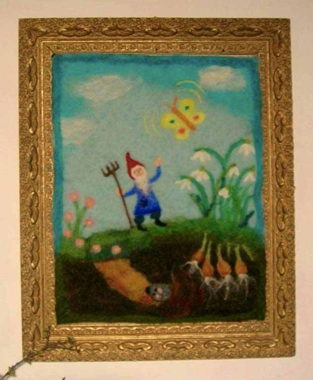 Mit zwergen durch das jahr der jahreszeitentisch im m rz - Gartenarbeit im marz ...