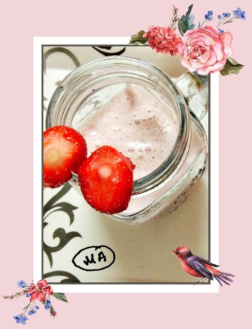 #Yummy HealthyStrawberry Milkshake...in a different way