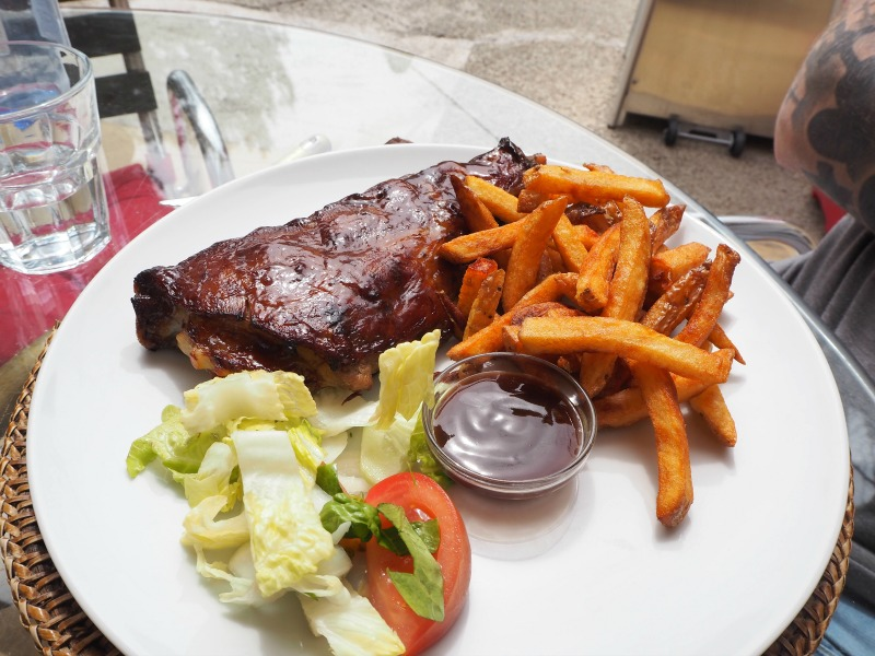 BBQ spare rib and fries in San Miguel