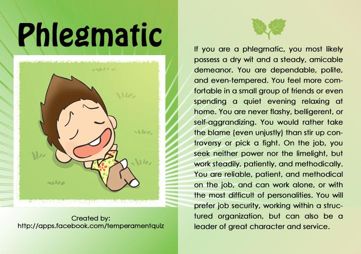 Phlegmatic and melancholic
