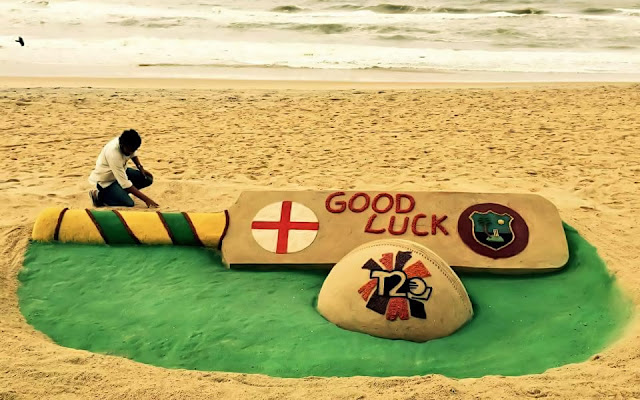 T20 World Cup 2016 FINAL MATCH — Sand Art By Sudarsan Pattnaik