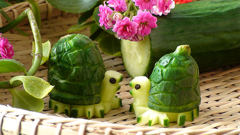 Josephine s recipes how to make cucumber turtles
