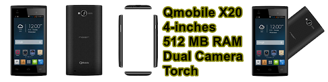 QMobile X20 3G Supported smartphone