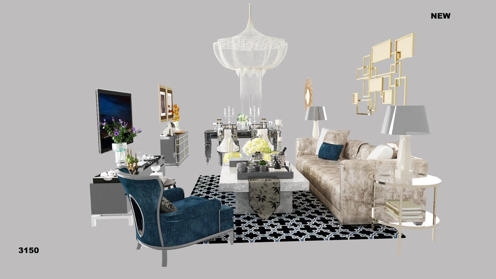 templates 3D: Living room