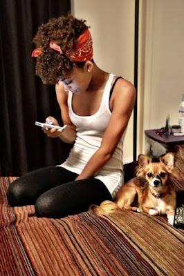 vintage bandana afro hairstyle