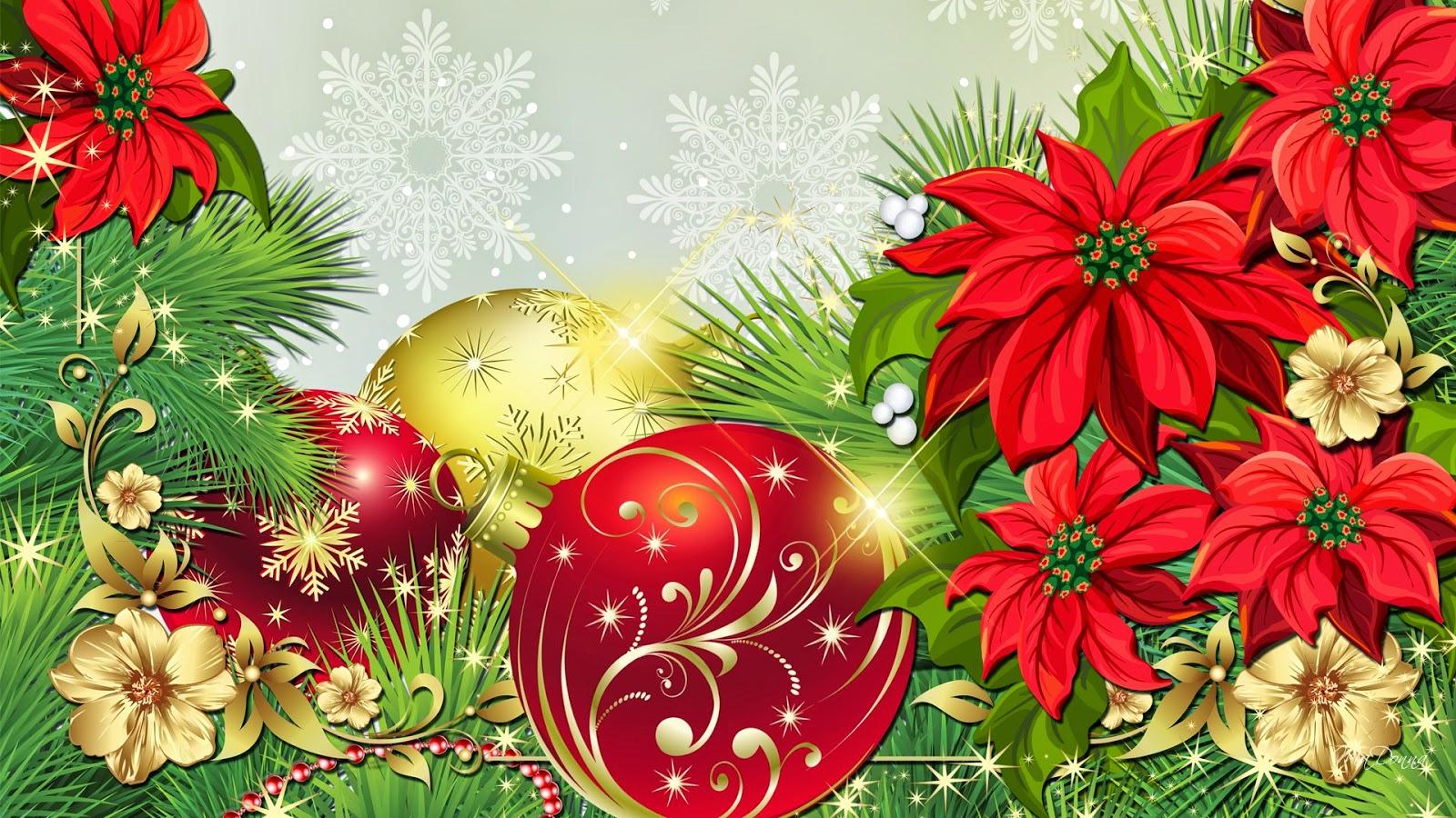 Banco de imagenes y fotos gratis wallpapers de navidad - Imagenes flores de navidad ...