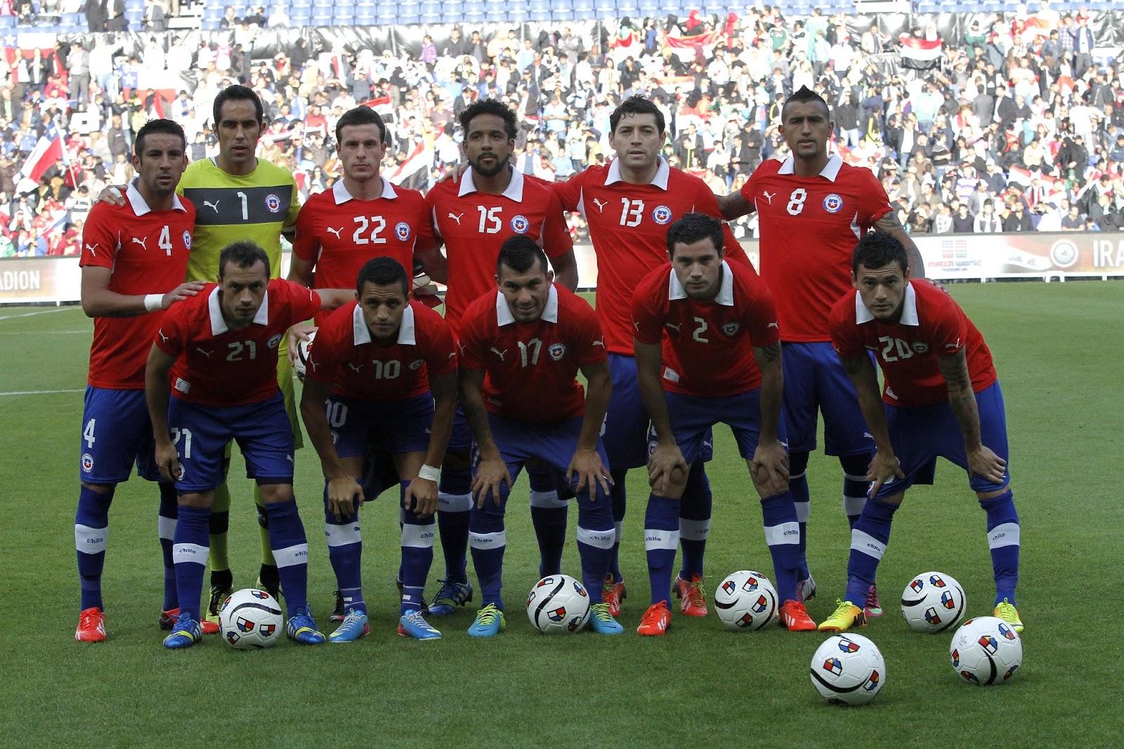 Formación de Chile ante Irak, amistoso disputado el 14 de agosto de 2013