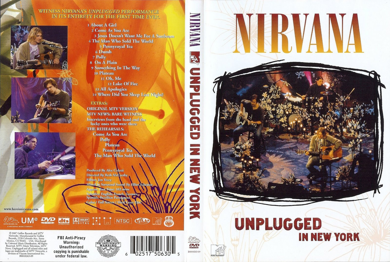 Nirvana MTV Unplugged in New York DVD-R