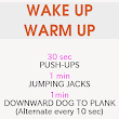 Wake up Warm up Workout         ~          Losing Weight For All