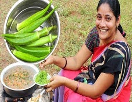 Amazing Traditional Lady's Finger Fry Recipe – Village Foods – Kurkuri Bhindi South Indian Cooking