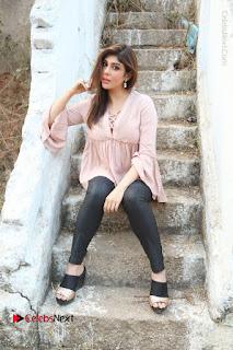 Telugu Actress Aditi Singh Stills in Leather Pants at Nenu Kidnap Iyanu Movie Press Meet  0208.JPG