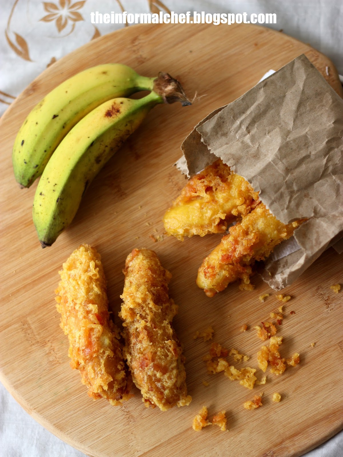 The Informal Chef Crispy Fried Banana Pisang Goreng 炸香蕉