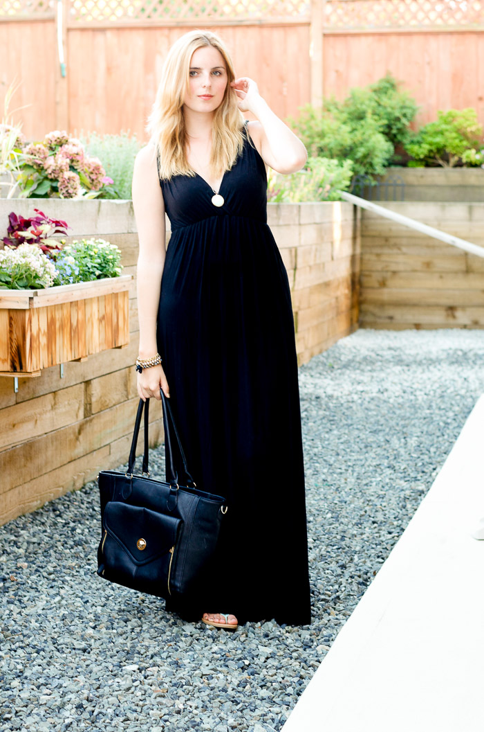How to Style a Black Maxi Dress