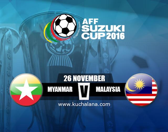 AFF Suzuki Cup 2016 : Myanmar Vs Malaysia
