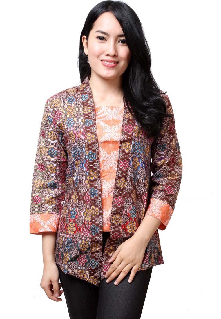 20 Model Baju Batik Kerja Wanita Kombinasi Modern Terbaru  Gaya