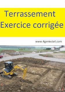 exercice de terrassement pdf, exercice rotation de camion, calcul terrassement talus, plan de terrassement pdf