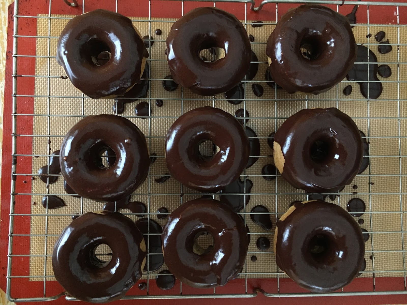 Vegan Cinnamon Donuts With A Chocolate Glaze